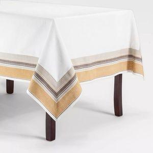 "New Threshold Yellow Border Tablecloth 52""x70"""